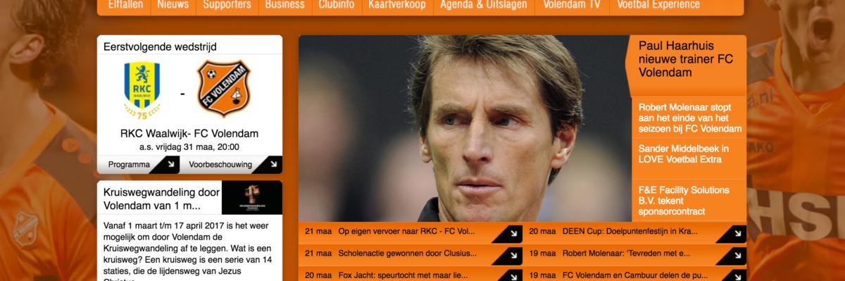 FC Volendam slaat snel door en serveert nieuwe trainer aan publiek